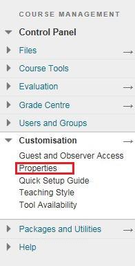 Blackboard Customisation Tool