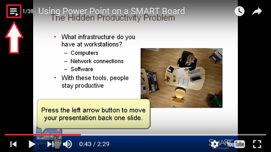 YouTube smartboard list