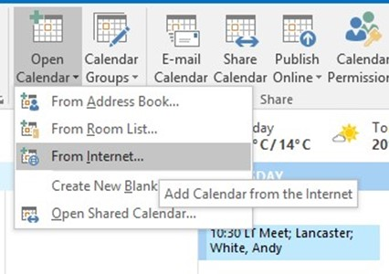 Sync a Blackboard Calendar to your Microsoft Outlook